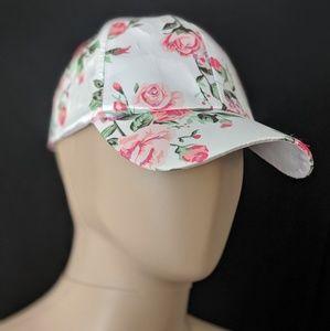 Rose Floral Baseball Satin Silk Dad Hat